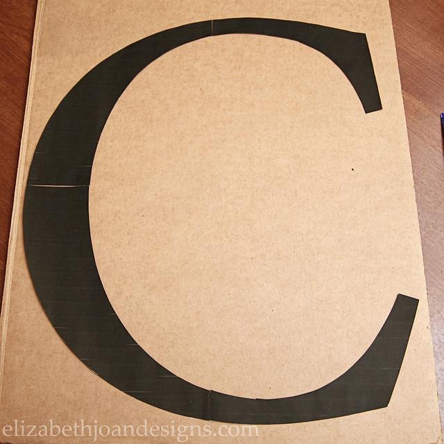 Cardboard Letter Monogram