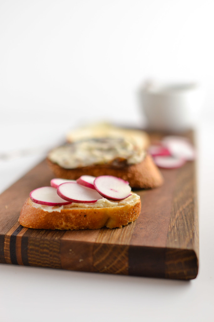 radish and anchovy butter toasts things i made today