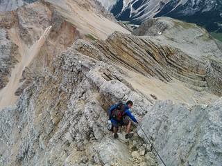 Klettersteigpassage Abstieg Neunerspitze