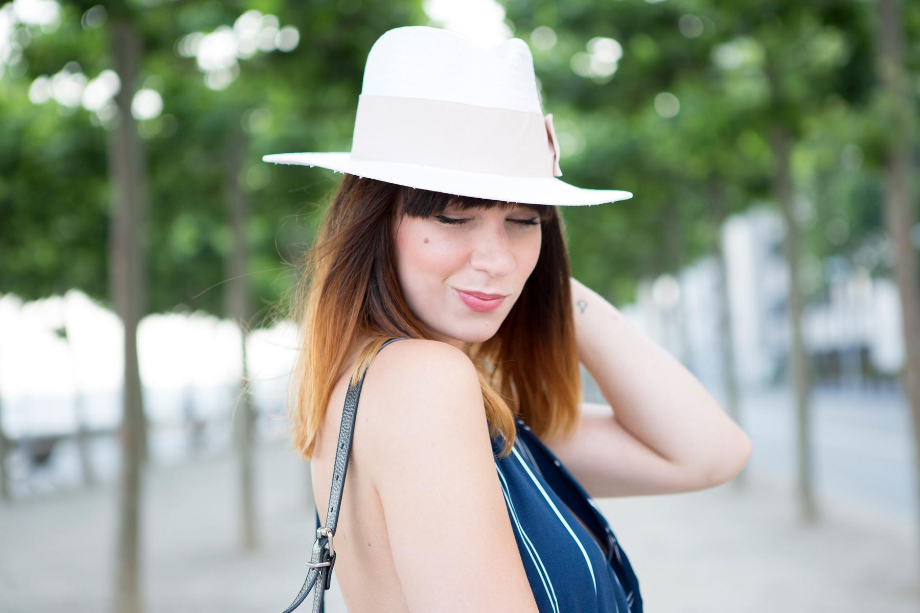 forever 21 jumpsuit overall streifen blue hat summer ombre cats & dogs ricarda schernus blogger berlin 4