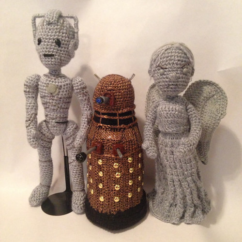 Doctor Who Crochet Amigurumi from CraftyIsCool - Cyber-Man, Dalek & Weeping Angel