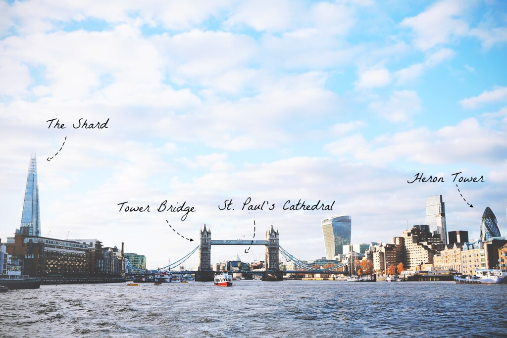 Budget opties voor het bewonderen van de Londense skyline | via It's Travel O'Clock