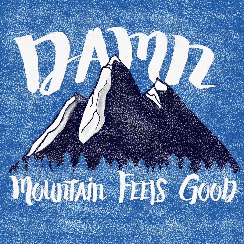 Mountain blue night