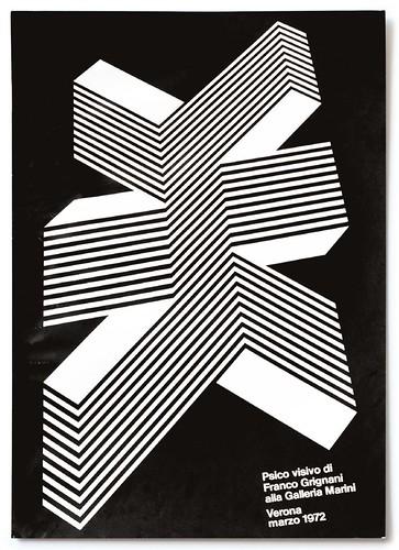 Franco Grignani Exhibition poster 1972 (50x70cm)