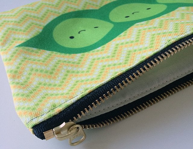 Peapod pouch from Redbubble