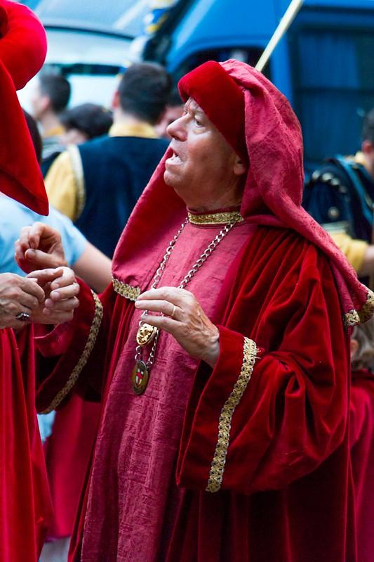 Renaissance costume parade.