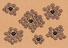 クラフト紙10_黒プレーンを囲む白プレーン