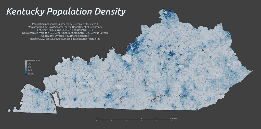 Kentucky population density