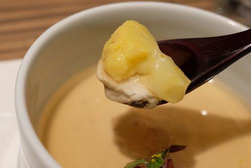 季菜 ゴマ豆腐とイエローカリフラワー