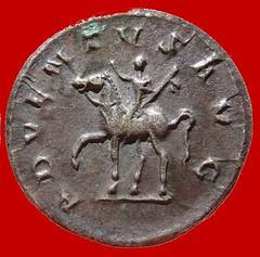 Roman Silver Antoninianus of Trajan Decius reverse
