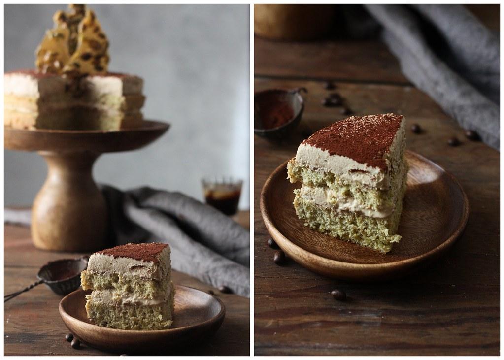 PISTACHIO CAKE WITH CARDAMOM COFFEE CREAM  foodfashionpary 