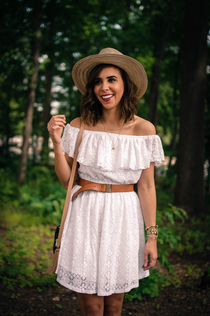 aviza style. a viza style. andrea viza. fashion blogger. dc blogger. off the shoulder white dress. abercrombie dress. floppy hat. white dress. summer style. 17