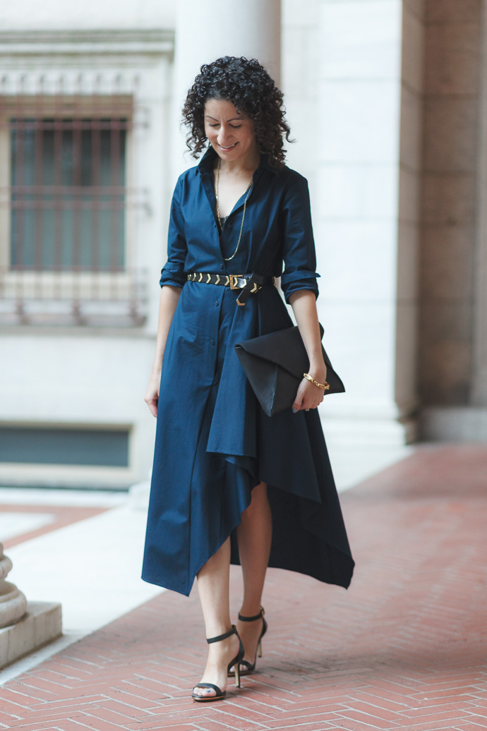 Boston Wedding – Dramatic Shirt Dress