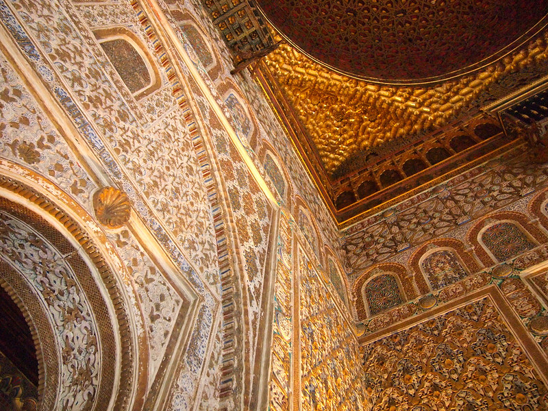 Inside the Alcazar in Seville