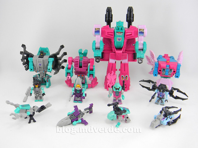 Transformers Piranacon Kre-O - modos individuales vs G1