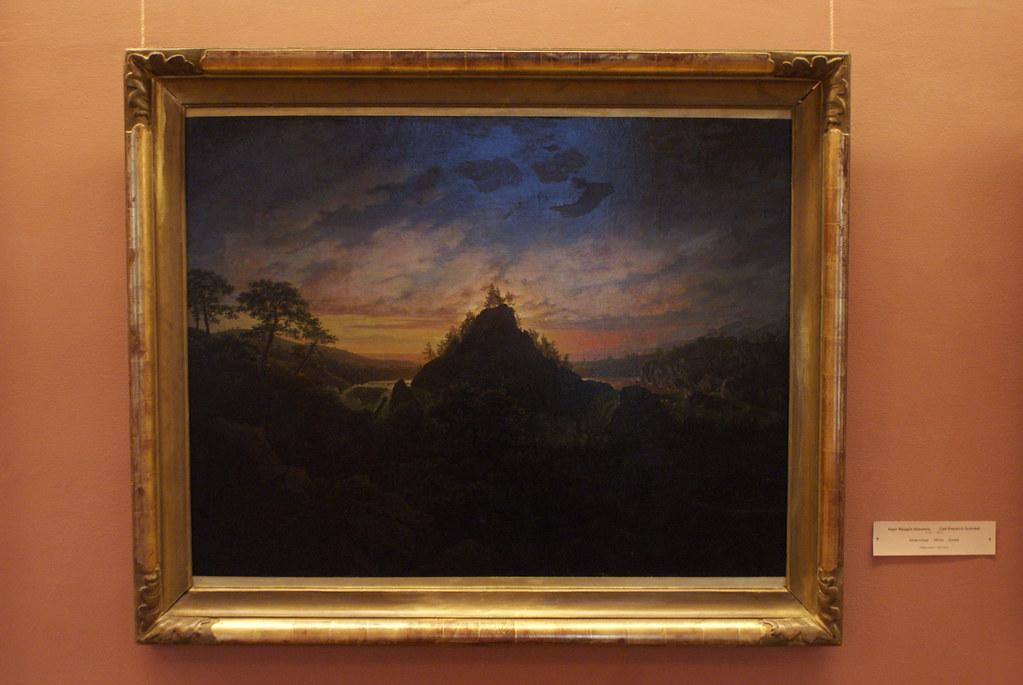 Paysage romantique du pinceau de Carl Frieidrich Schinkel (1813)