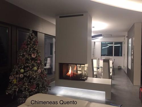Chimenea quento modelo isla showroom crta - Chimeneas quento ...