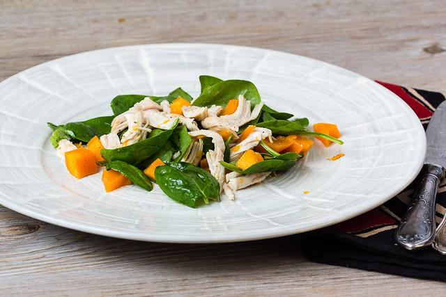 Süsskartoffel Spinat Salat