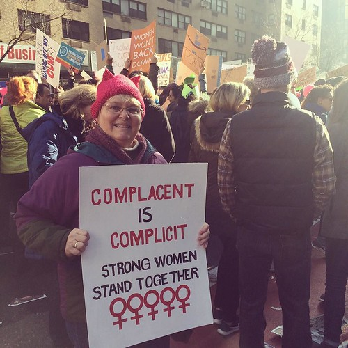 Still / again fighting for what's right #WomensMarchNYC #WhyIMarch @nycwomensmarch | by beholdthev