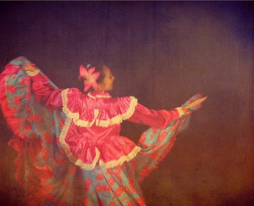 Traditional Mexican dancer in Puerto Vallarta at night