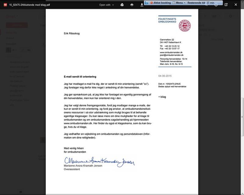 brev ombudsmannen