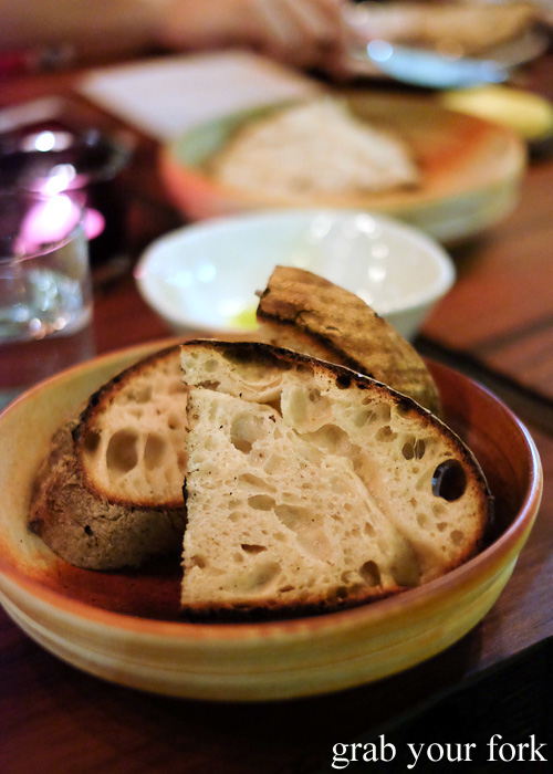 Wood fired bread at Firedoor by Lennox Hastie, Surry Hills