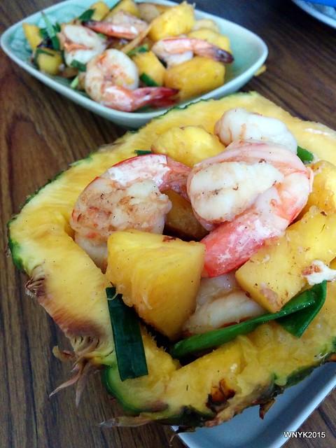 Pineapple Prawns