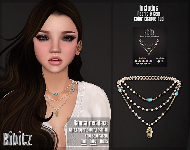 Kibitz - Hamsa necklace