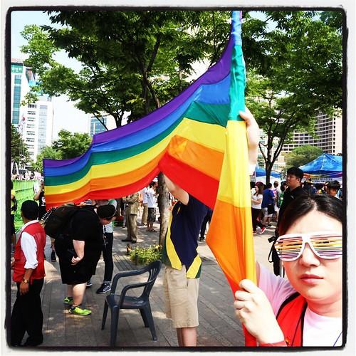 The LGBT honor guard.