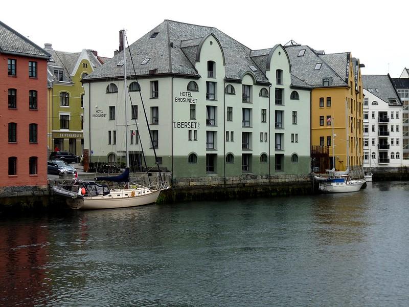 Art Nouveau Buildings by Alesund's Inner Harbour