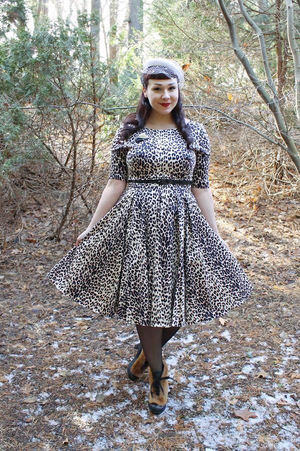 the pretty dress company leopard hepburn dress