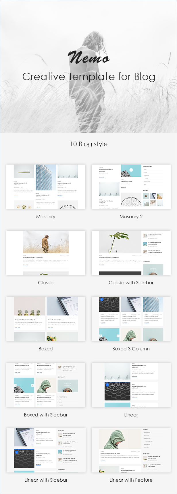 Nemo Blog PSD Template