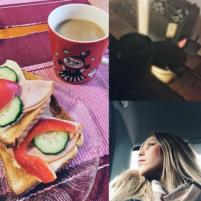HomeBoundWeekendLifePics, paahtoleipä, toast, brekkie, breakfast, aamiainen, sauna, suomi, finland, puusauna,