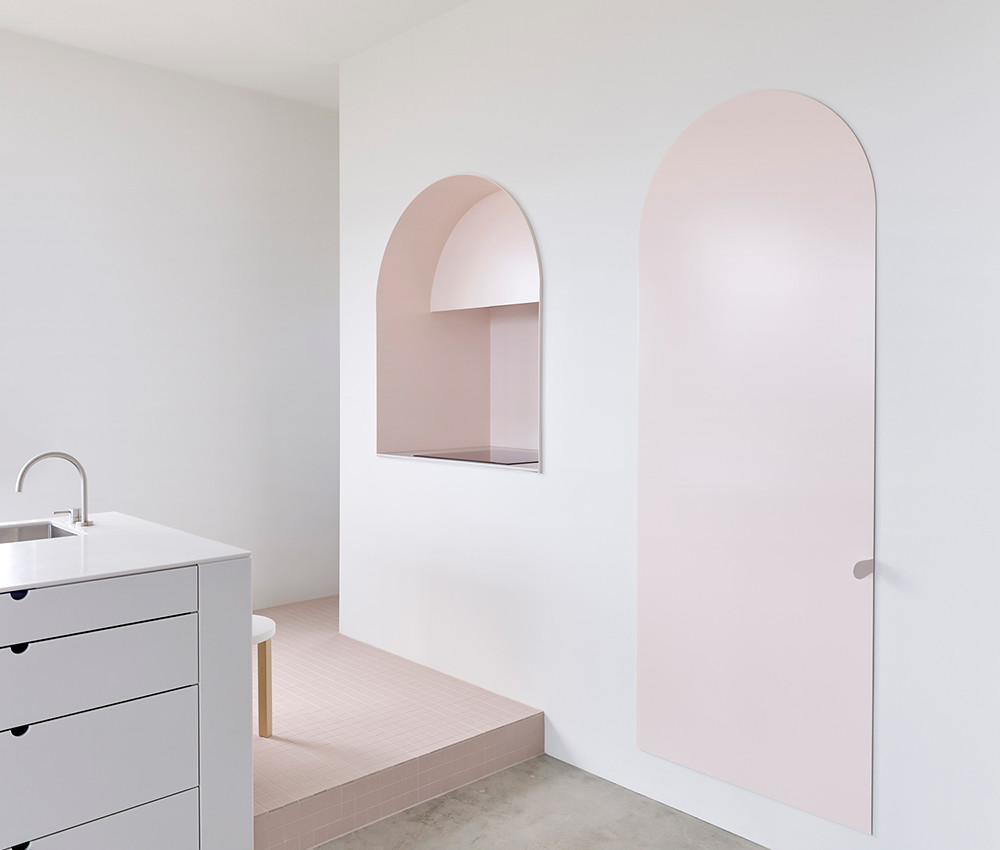 Melbourne pink apartment design by BoardGrove Architects Sundeno_04
