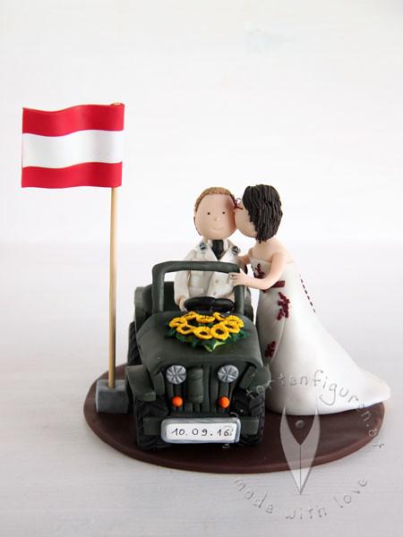 Personalisierte Hochzeitstortenfigur Militar Mit Auto Flickr