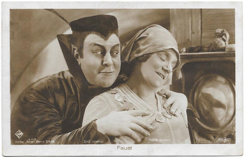 Emil Jannings and Yvette Guilbert in Faust (1926)