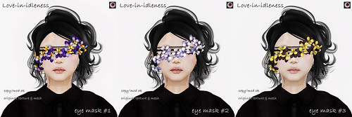 *NAMINOKE*Love-in-idleness eye mask | by taiko McCaw