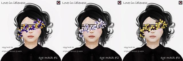 *NAMINOKE*Love-in-idleness eye mask