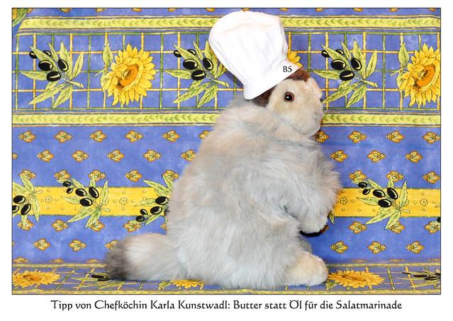 Chefköchin Karla Kunstwadl empfiehlt: Feldsalat mit gebratenen Austernpilzen ... Tipp: Butter statt Öl für die Salatmarinade ... Foto: Brigitte Stolle, Mannheim