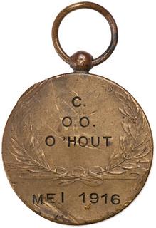 C OO OHOUT ME1 1916 medalet reverse