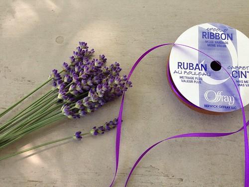 Lavender wand beginning