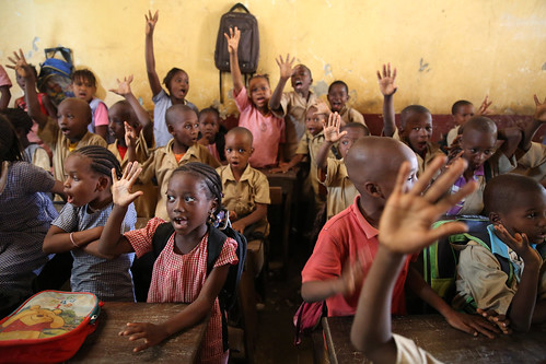 Children raises their hands | by World Bank Photo Collection