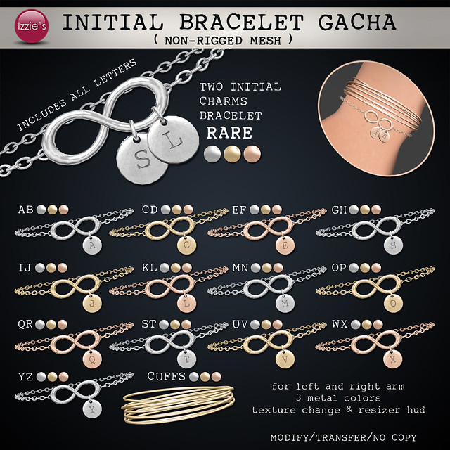 Initial Bracelet Gacha (soon @ The Epiphany)