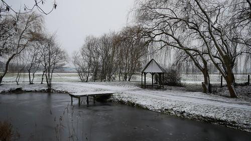 Erster Schnee am zweiten Tag im neuen Jahr
