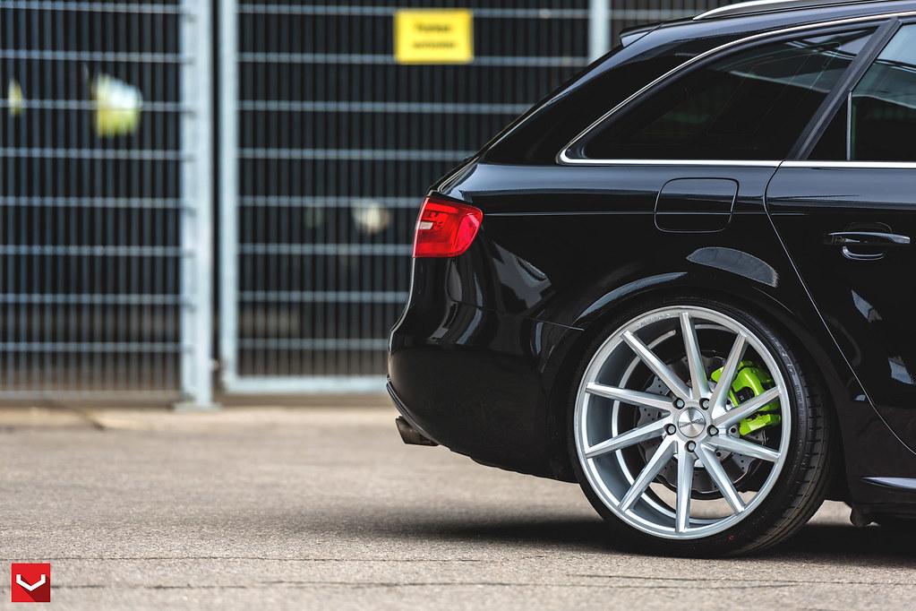 Audi A4 Avant Cvt Silver Polsihed 169 Vossen Wheels