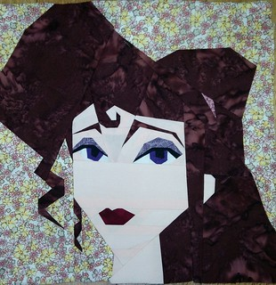 Megara. Paper pieced. Fandom in Stitches.