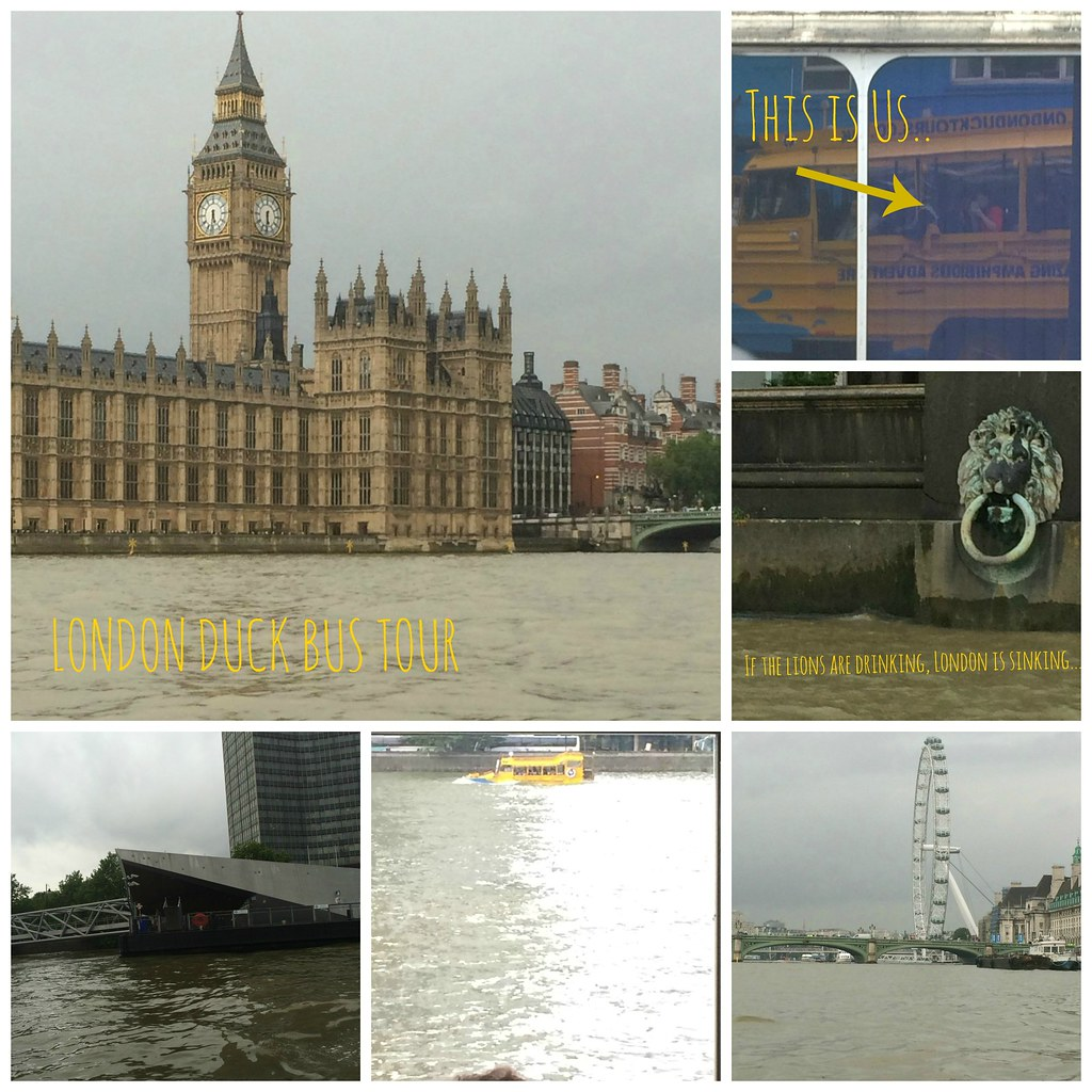 London Duck Bus Collage