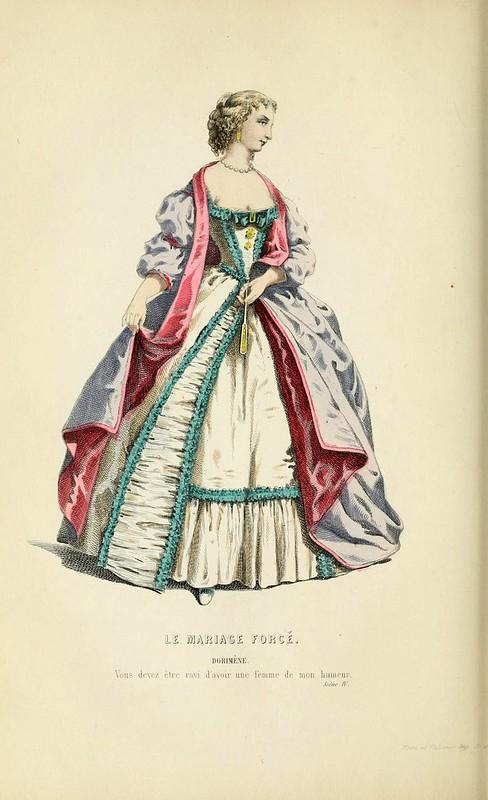 005-El matrimonio forzado -Oeuvres completes ornee de portraits en pied colories…1871- Moliere