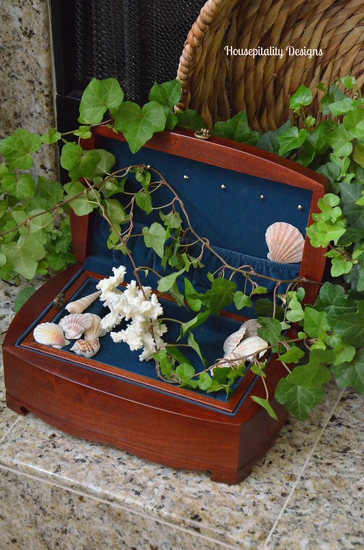 Jewelry Chest with sea shells-Housepitality Designs