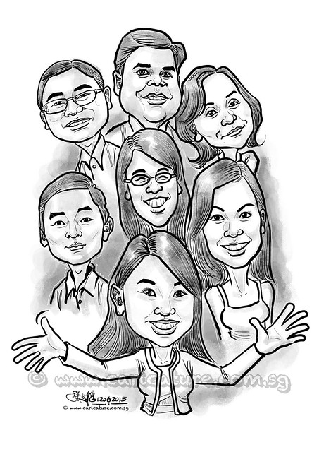 group digital caricatures for HSBC (watermarked)
